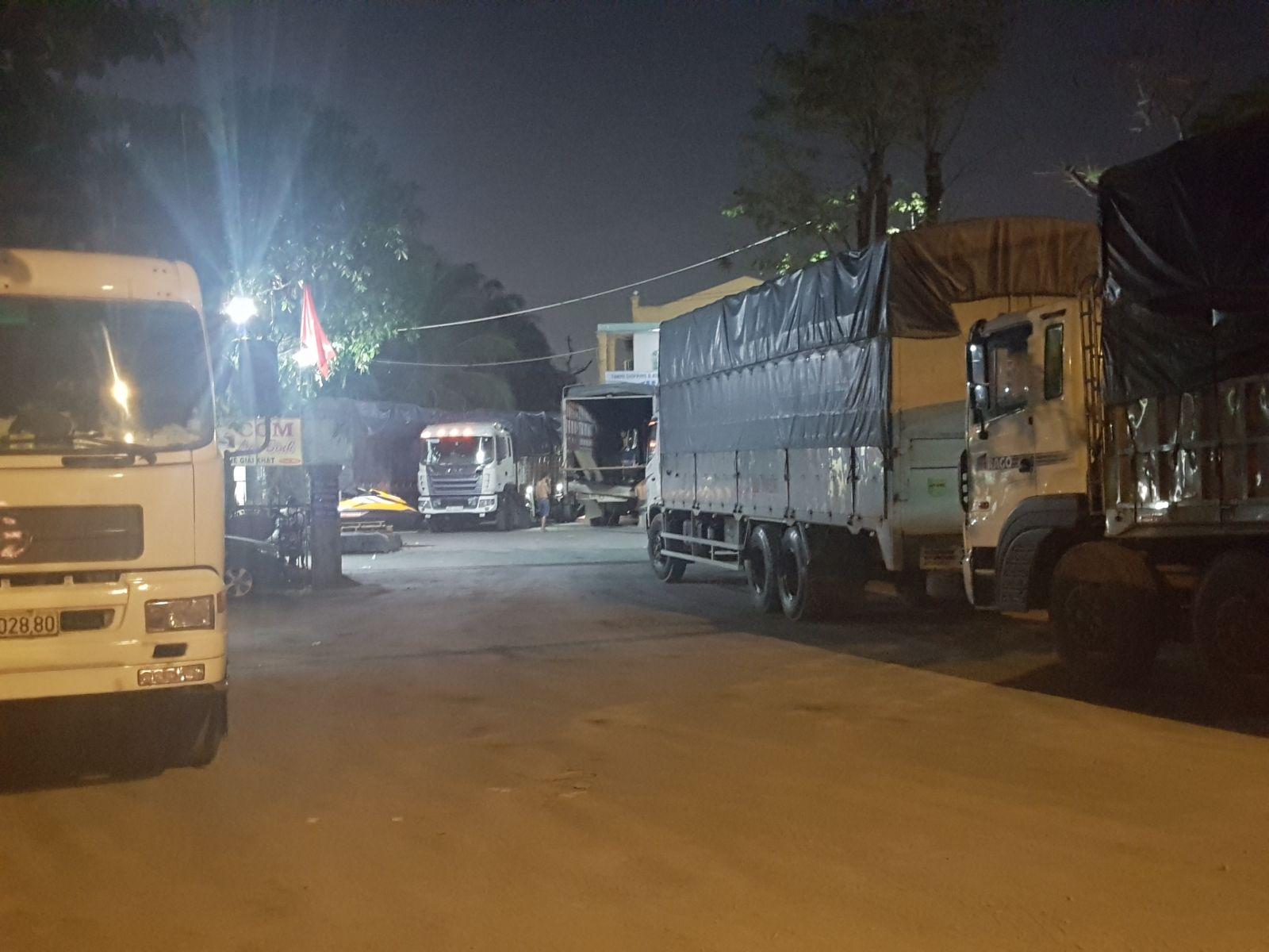 1 phần kho bãi của công ty vận chuyển hàng hóa Thái Hùng